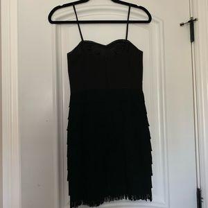 Black Strapless Flapper Dress